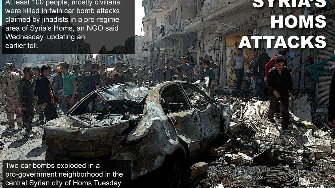 Syria's Homs attacks infographic