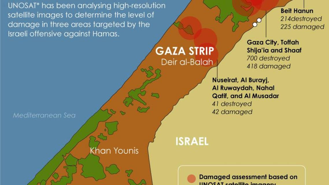 Assessing the damage in the Gaza Strip infographic