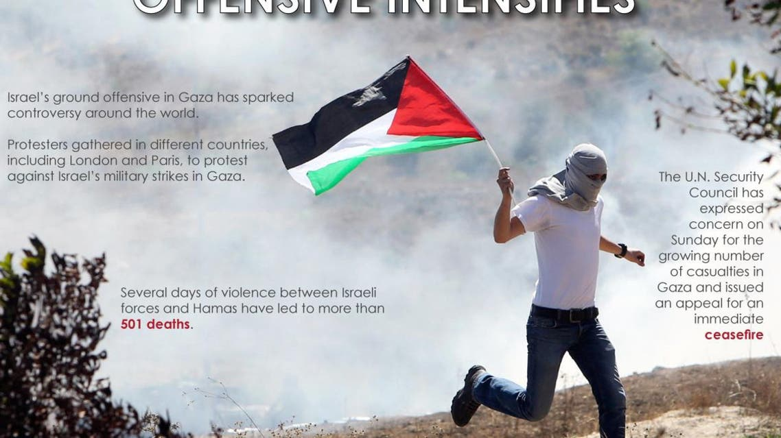 Protests escalate as Gaza offensive intensifies infographic