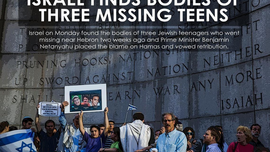 Israel finds bodies of three missing teens infographic
