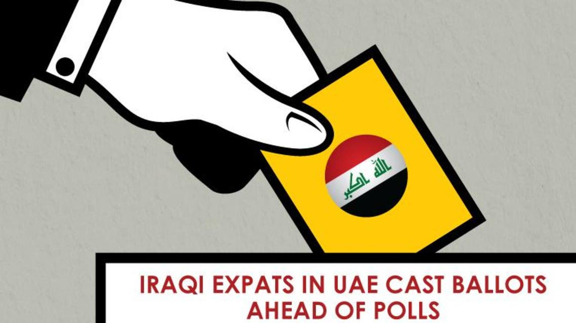 Iraqi expats in UAE cast ballots ahead of polls infographic
