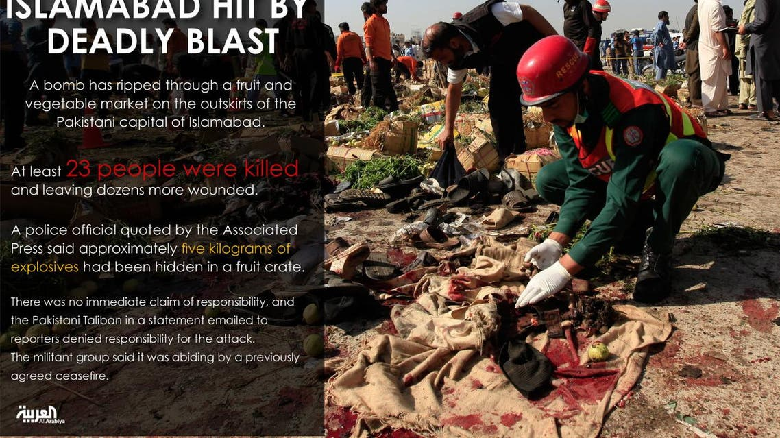 Islamabad hit by deadly blast infographic