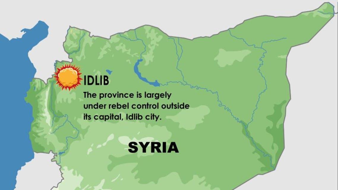 Air strikes pound Syria's Idlib infographic