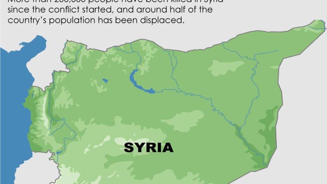 Damascus blast infographic