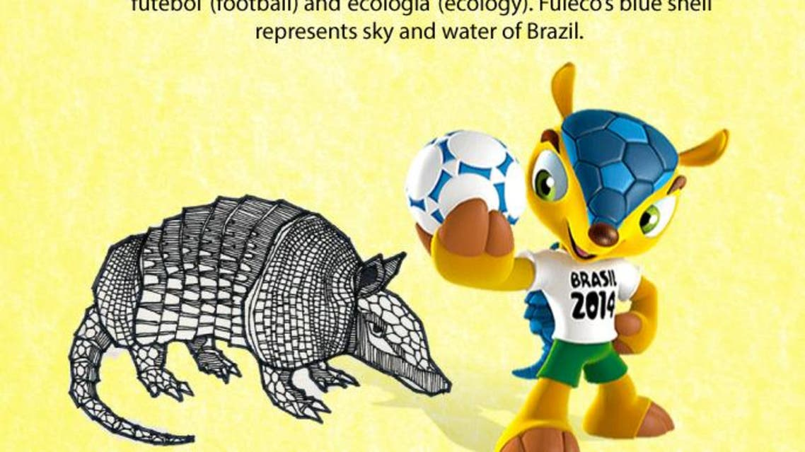 2014 FIFA World Cup mascot infographic