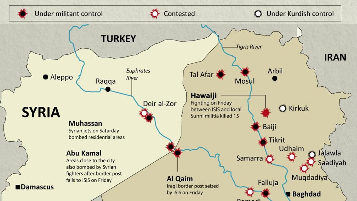 Syrian forces target ISIS infographic