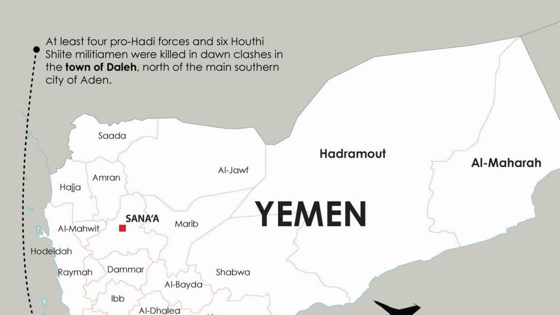 Fighting in south Yemen infographic