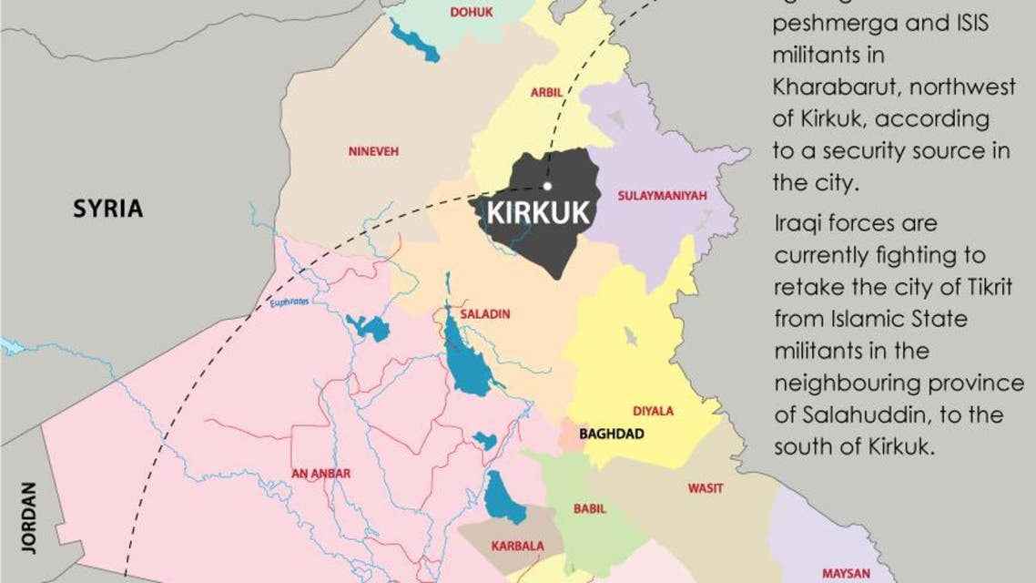 Kurdish forces attack ISIS west of Kirkuk infographic