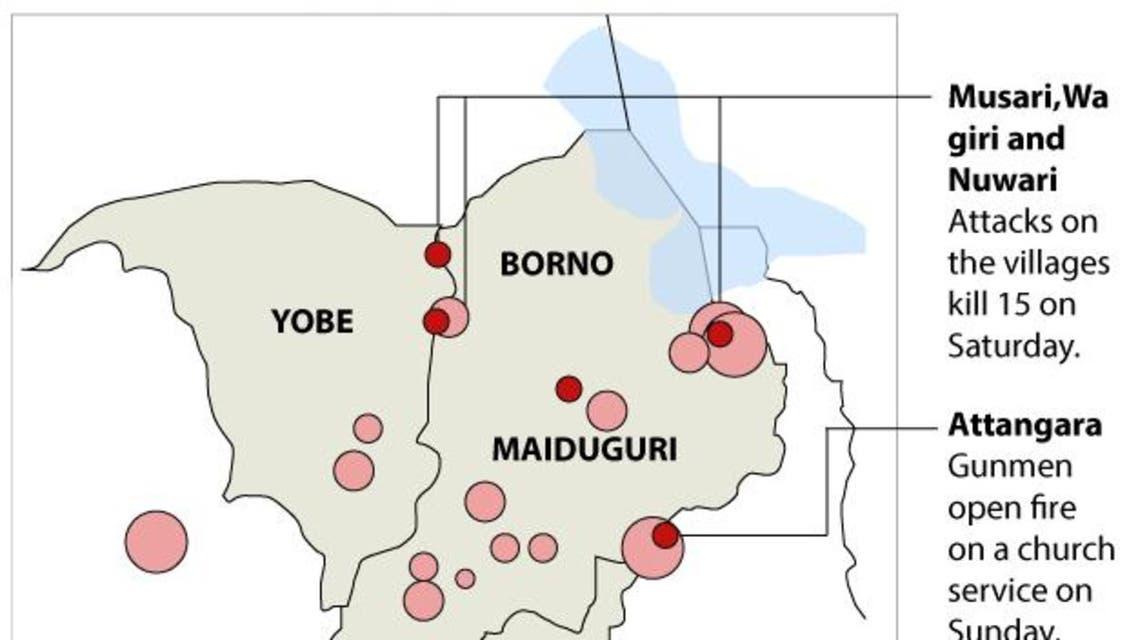 Boko Haram attacks infographic