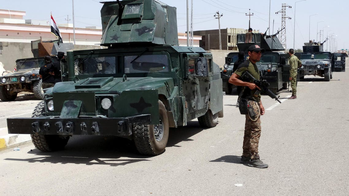 Iraqi security forces take part in a patrol in the city of Ramadi, May 1, 2015. (Reuters)