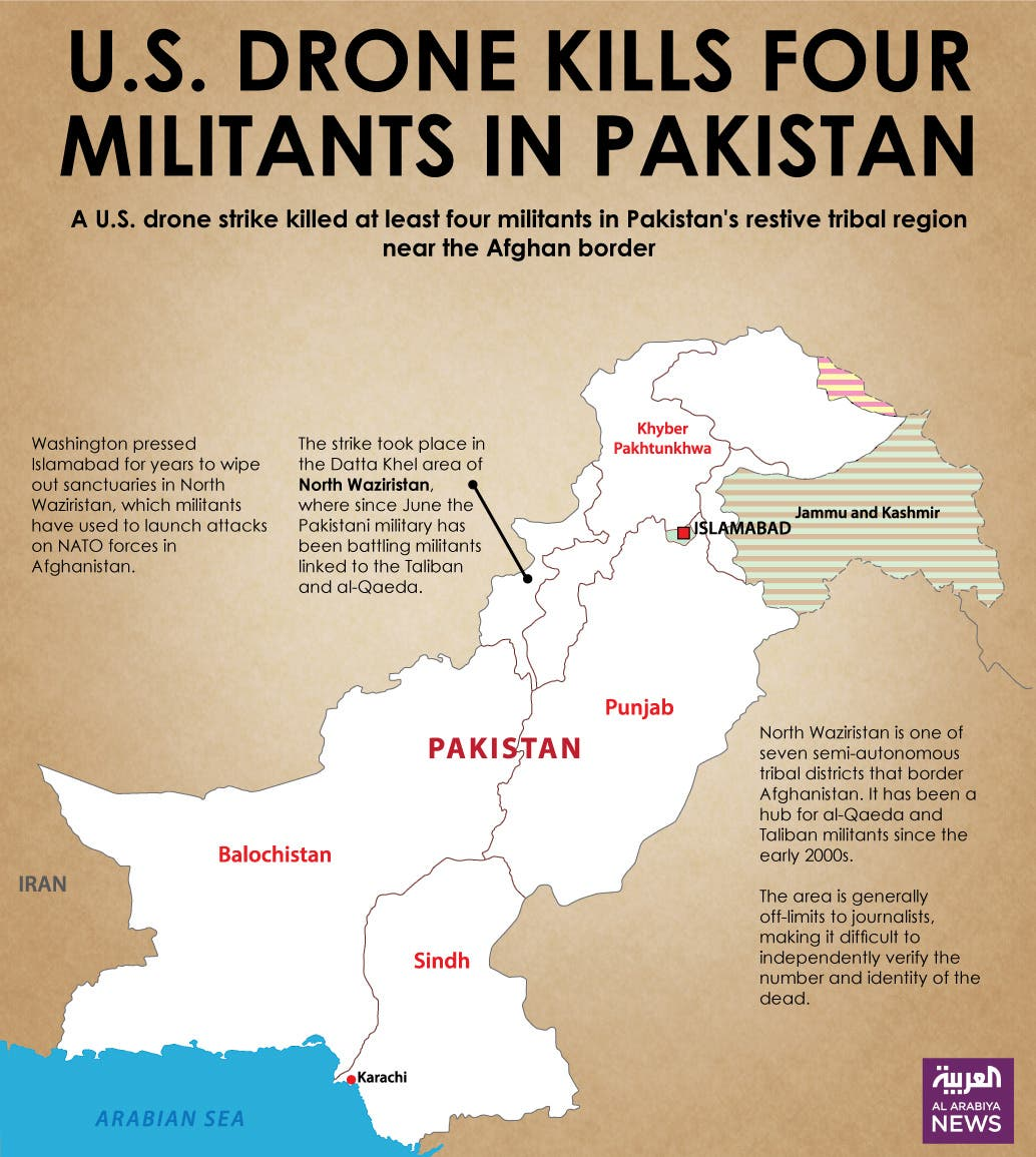 Infographic: U.S. drone kills four militants in Pakistan