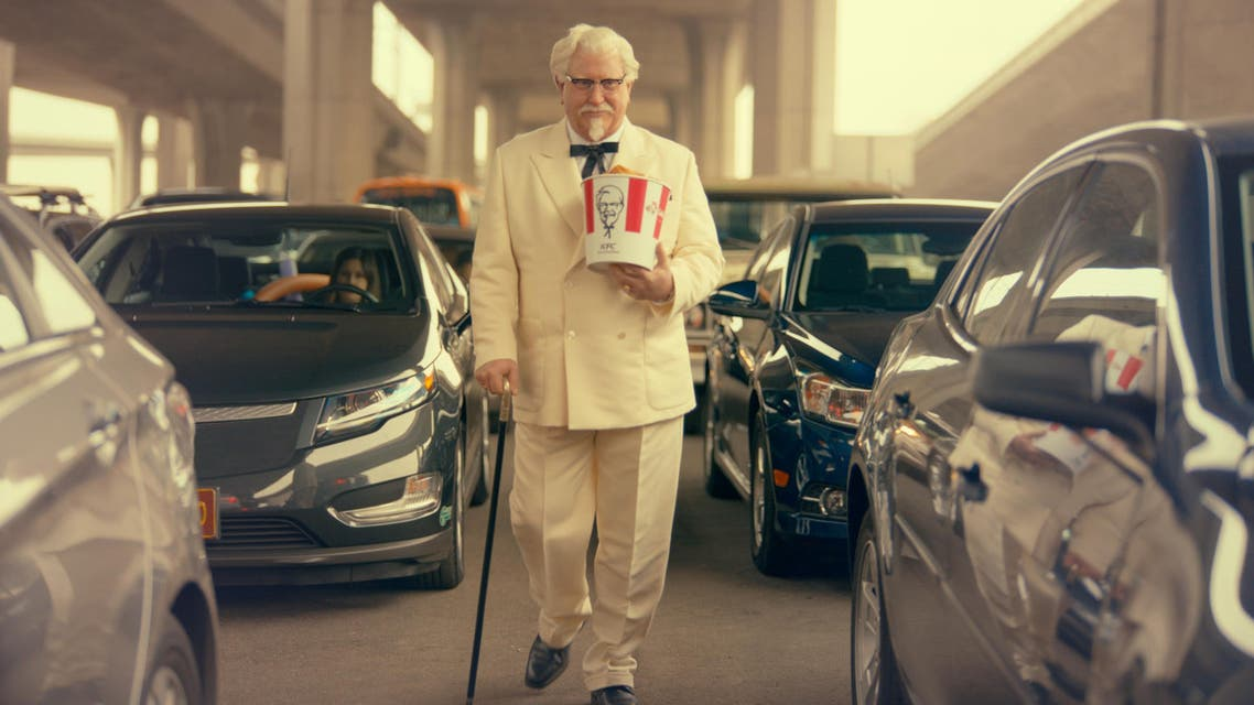 """This image provided by Yum Brands shows """"Saturday Night Live"""" alum Darrell Hammond as Colonel Sanders in a new KFC television ad. The real Col. Harland Sanders died nearly 35 years ago, and KFC hasn't featured him in TV ads for about 20 years. (AP Photo/Yum Brands)"""