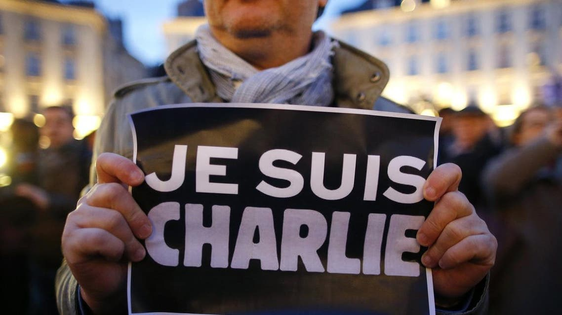 Supporters of Charlie Hebdo