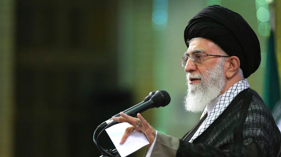 In this picture released by an official website of the office of the Iranian supreme leader on Saturday, May 16, 2015, Supreme Leader Ayatollah Ali Khamenei speaks in a meeting in Tehran, Iran. AP