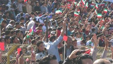 إيران.. احتجاجات أثناء زيارة روحاني لإقليم آذربيجان
