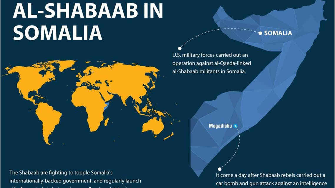 U.S. army attacks al-Shabab in Somalia infographic