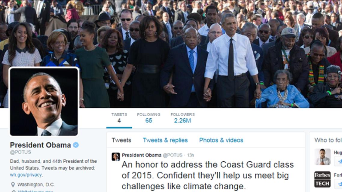 حساب أوباما على تويتر