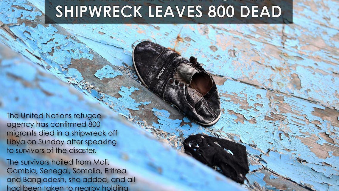 Mediterranean migrant shipwreck leaves 800 dead infographic