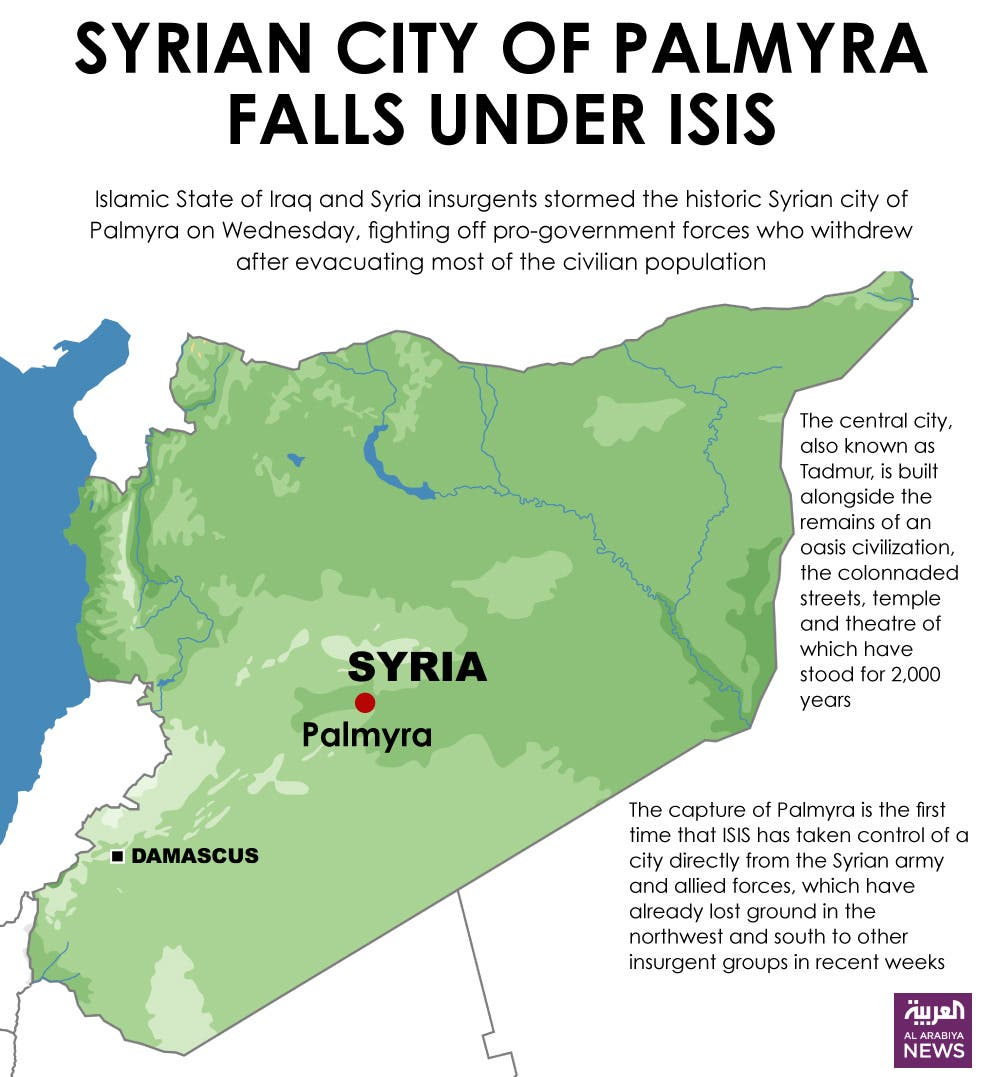 Infographic: Syrian city of Palmyra falls under ISIS