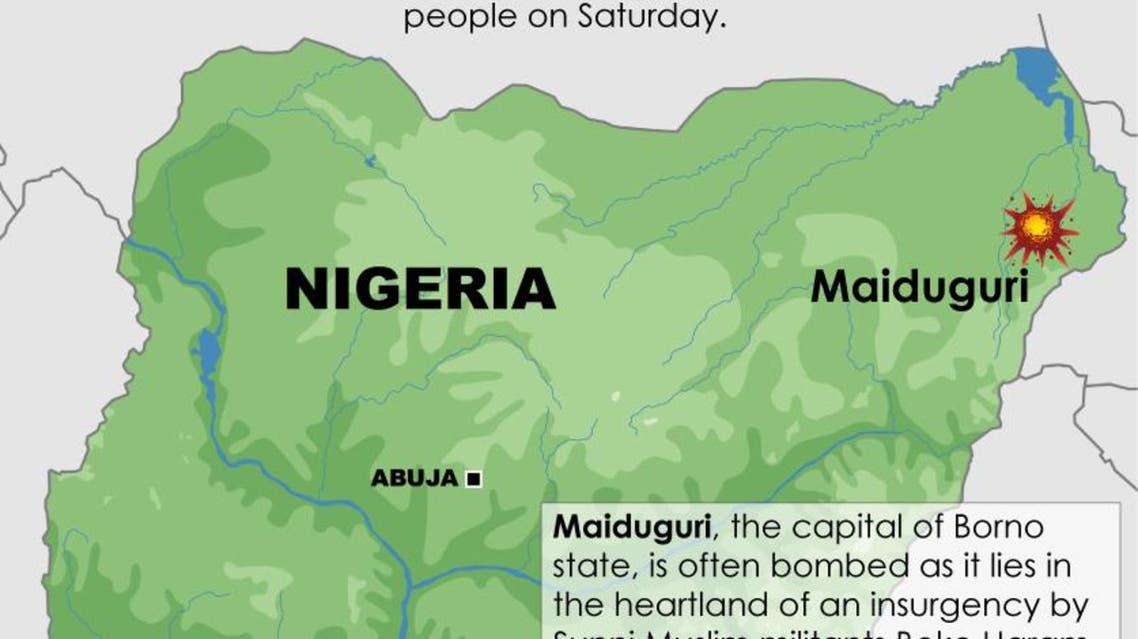 Suicide bombing by 10-year-old girl in Nigeria infographic