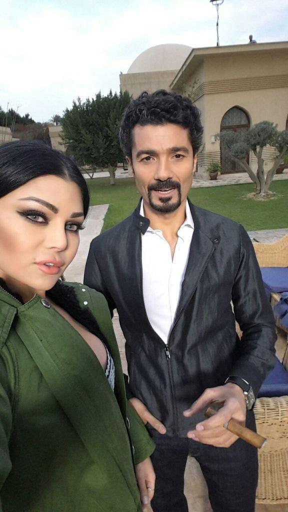 هيفا وهبي وخالد النبوي في أحد مشاهد مسلسل مريم