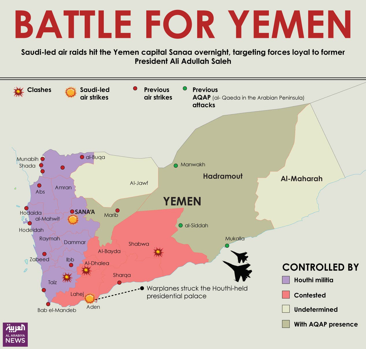Infographic: Battle for Yemen
