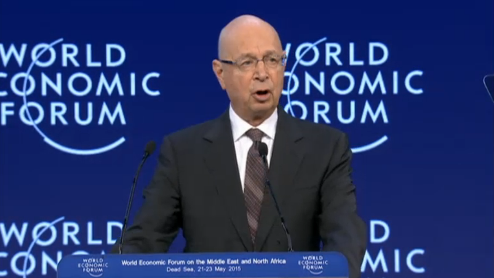Klaus Schwab, founder and executive chairman of the World Economic Forum