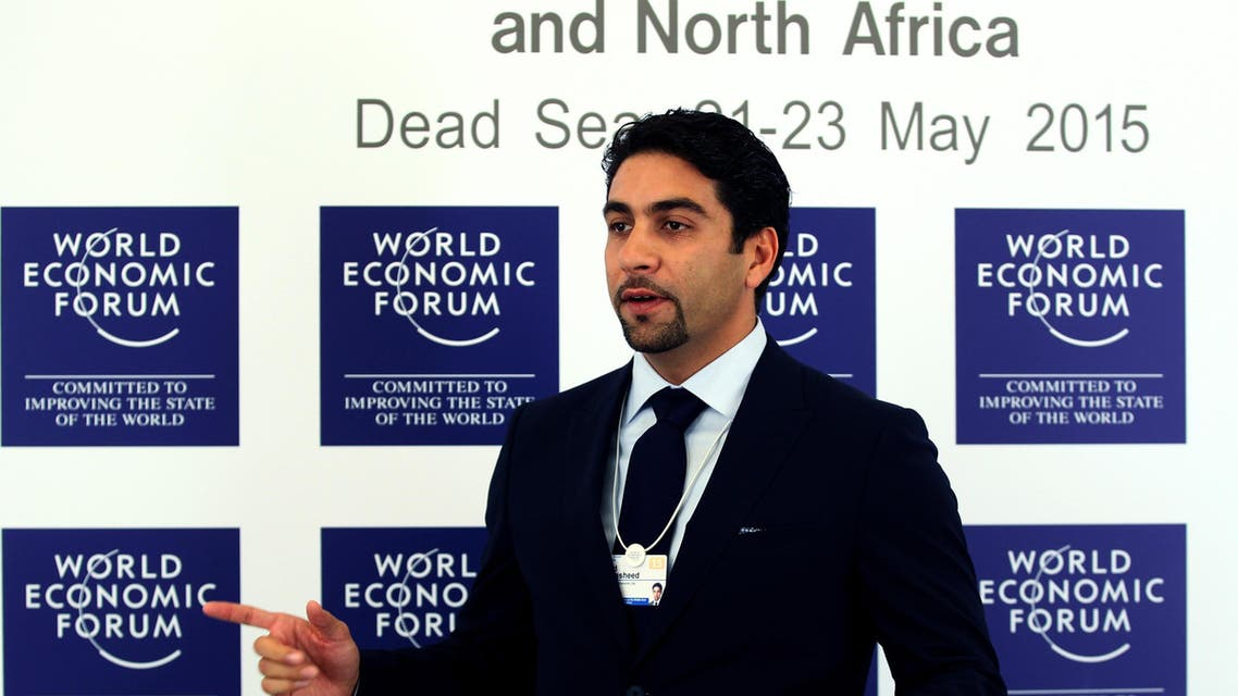 "Fahd al-Rasheed, the Group CEO of Emaar Economic City (EEC), speaks during the World Economic Forum at the King Hussein convention center, Southern Shuneh, Jordan, Friday, May 22, 2015. A $100 billion city-from-scratch in Saudi Arabia is to be completed by 2035 and will serve as the main logistics and manufacturing hub for countries on the Red Sea, the world's ""largest new emerging market,'' said al-Rasheed, the CEO of the company in charge of the mega-project. (AP Photo/Raad Adayleh)"
