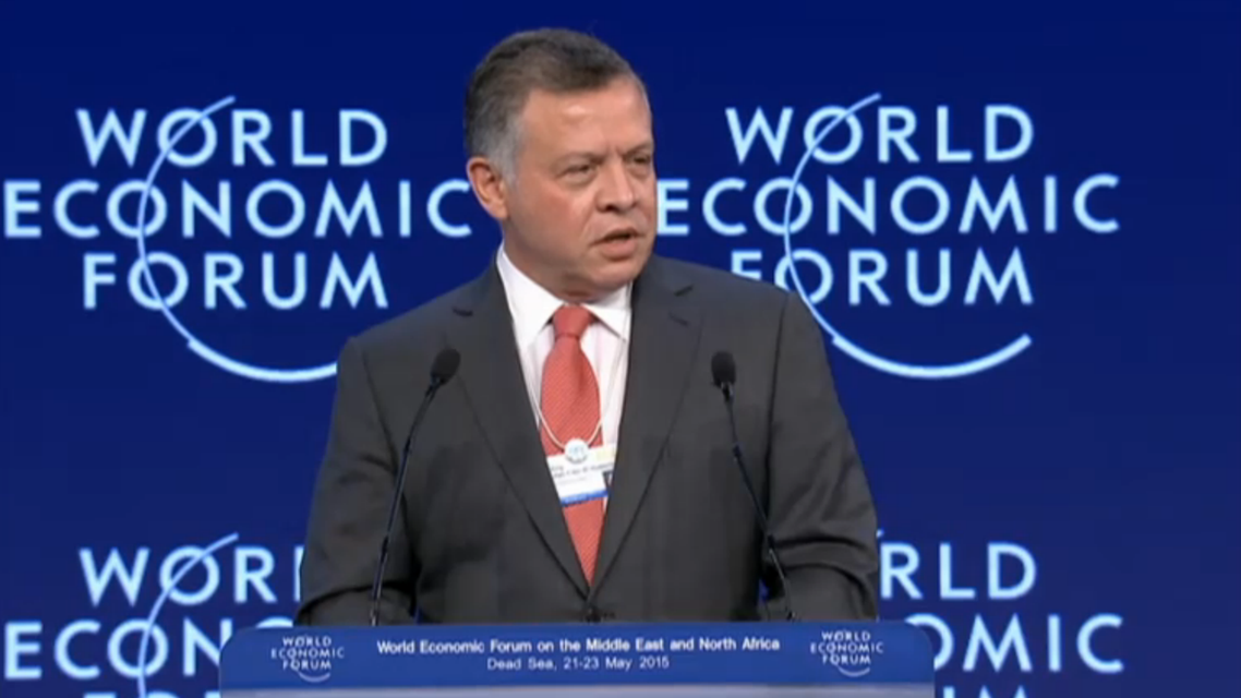 King Abdullah of Jordan on Friday opened the World Economic Forum on the Middle East and North Africa.