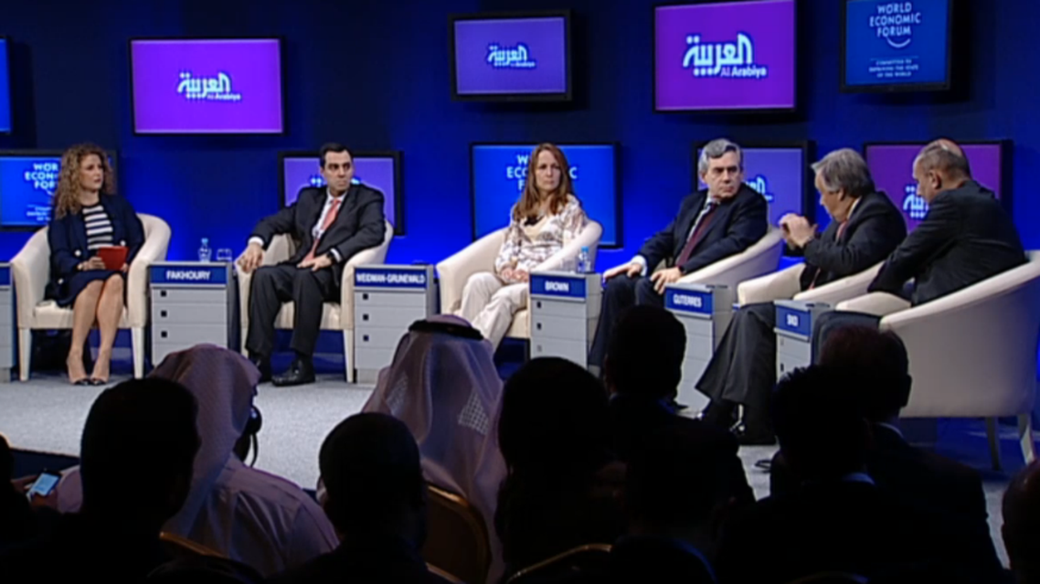 The panel discussion at the World Economic Forum on the Middle East and North Africa 2015. (Photo courtesy: WEF)