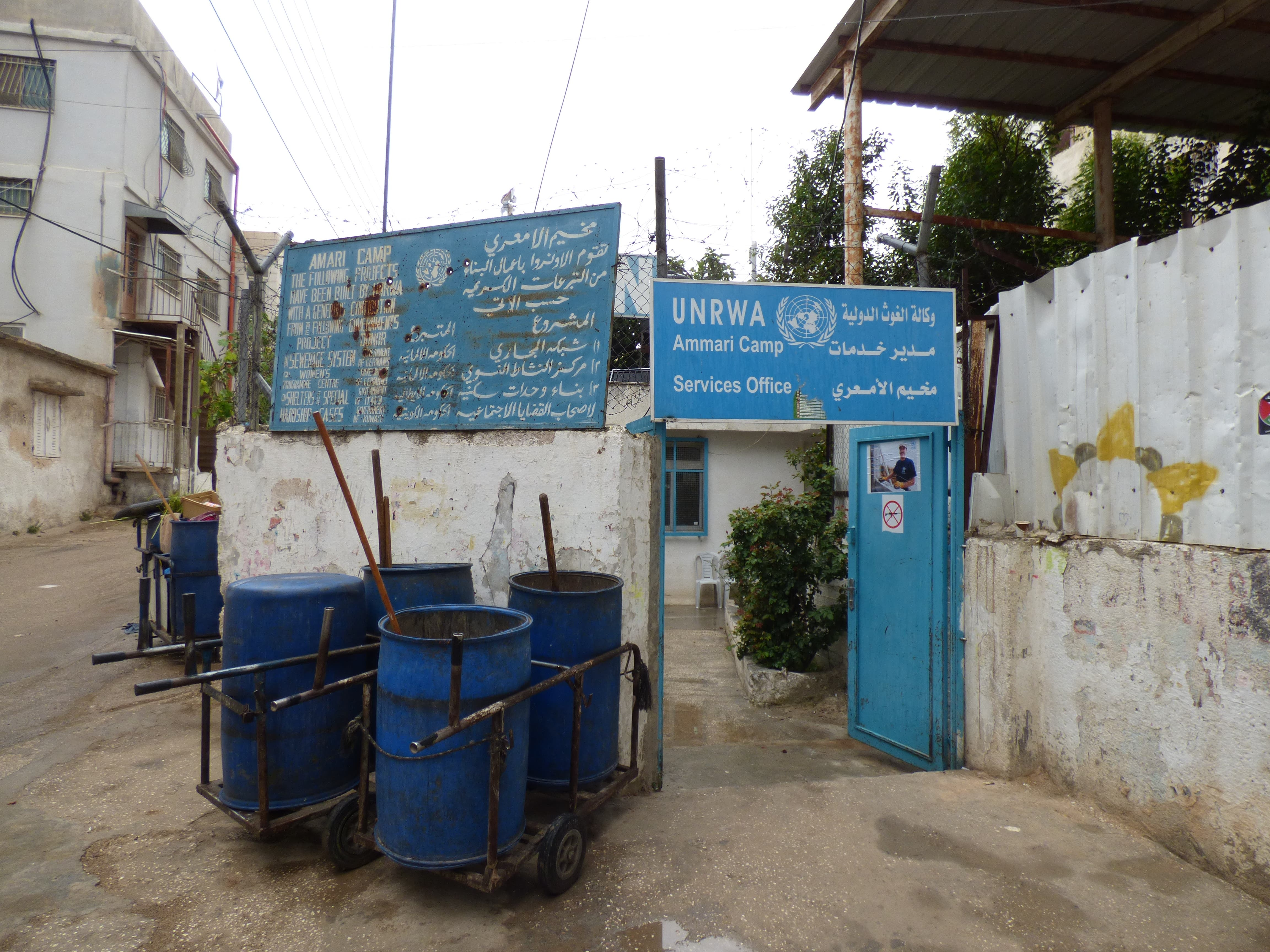 Al-Ammari refugee camp was established by UNRWA, the United Nations refugee agency, in the 1950s in Ramallah, in the Occupied West Bank Territory. (Al Arabiya/ Nabila Ramdani)