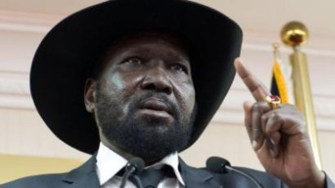 South Sudan president, Salva Kiir Mayardiit lecturing to media houses in April in Juba