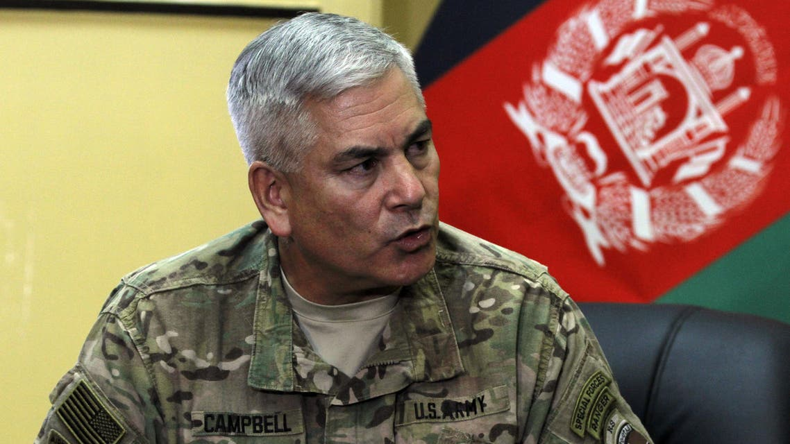 General John F. Campbell, commander of international forces in Afghanistan, speaks during a press conference in Kabul, Afghanistan, Saturday, May 23, 2015. (File: AP)