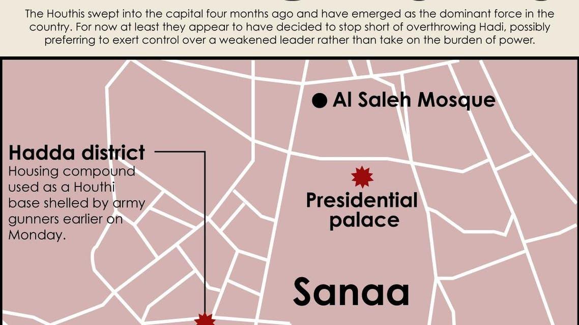 Yemen clashes infographic