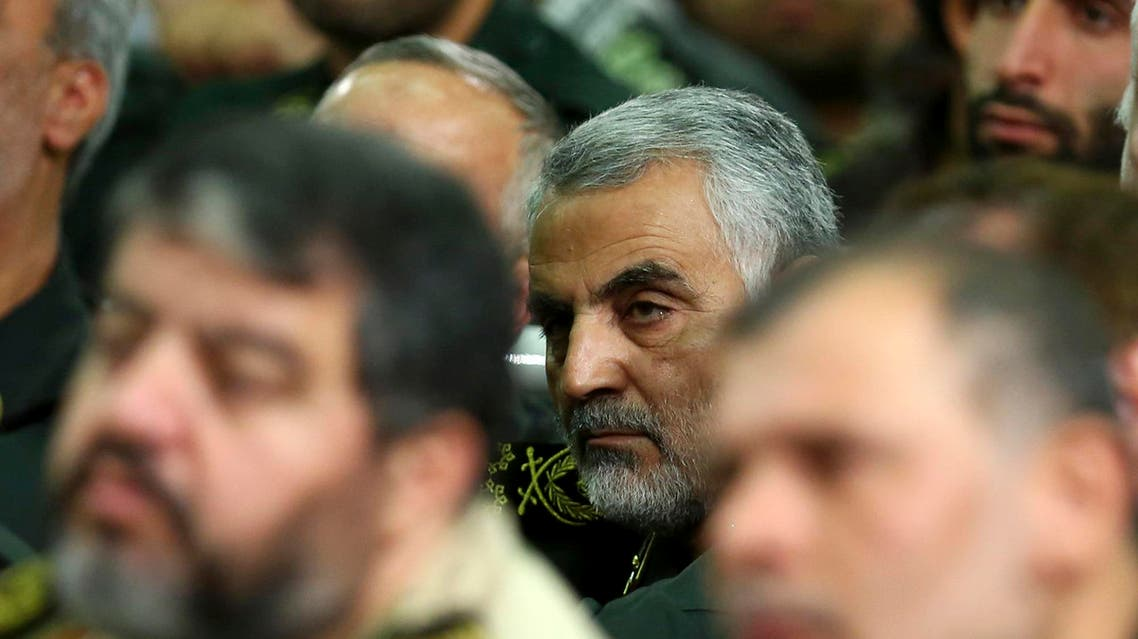 In this Tuesday, Sept. 17, 2013 file photo, head of the elite Quds force of Iran's Revolutionary Guard, Qassem Soleimani, attends a meeting of the commanders of the Revolutionary Guard. (AP)
