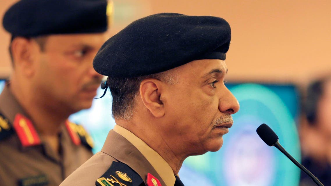 Saudi Interior Ministry spokesman Maj. Gen. Mansour al-Turki listens to journalists questions during a press conference in Riyadh, Saudi Arabia. AP