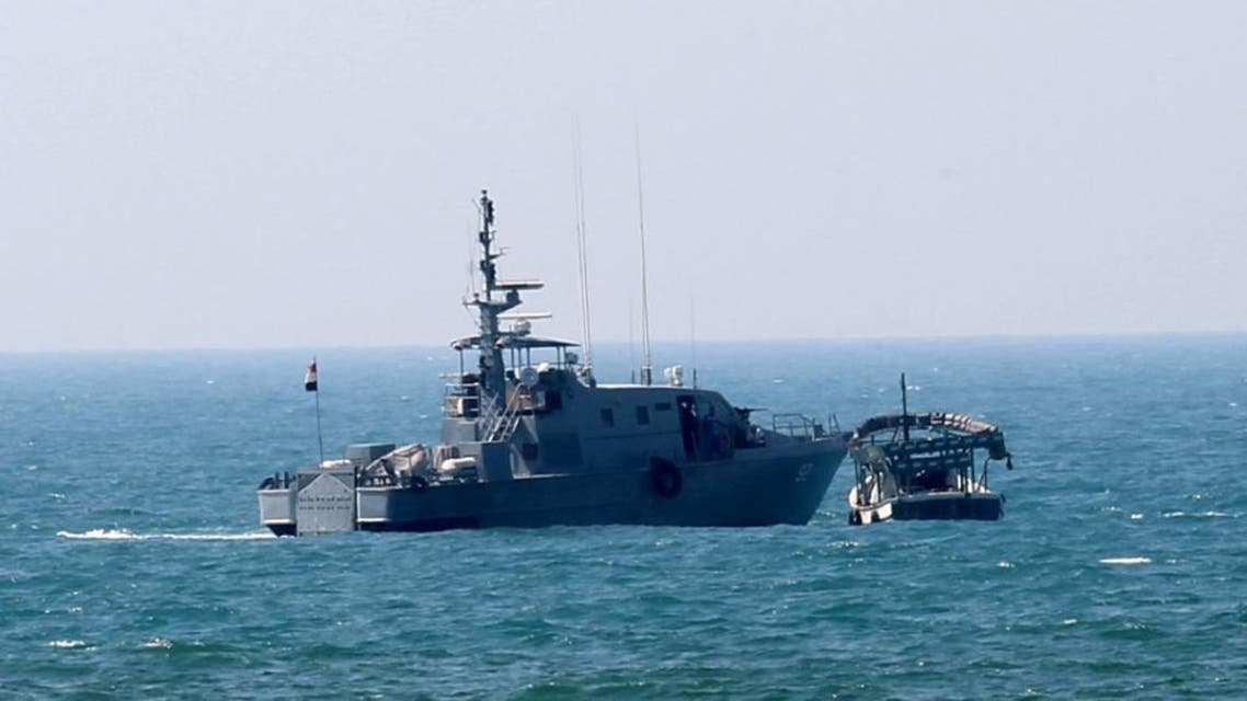 An Egyptian ship patrols in the Mediterranean. (File: AFP)