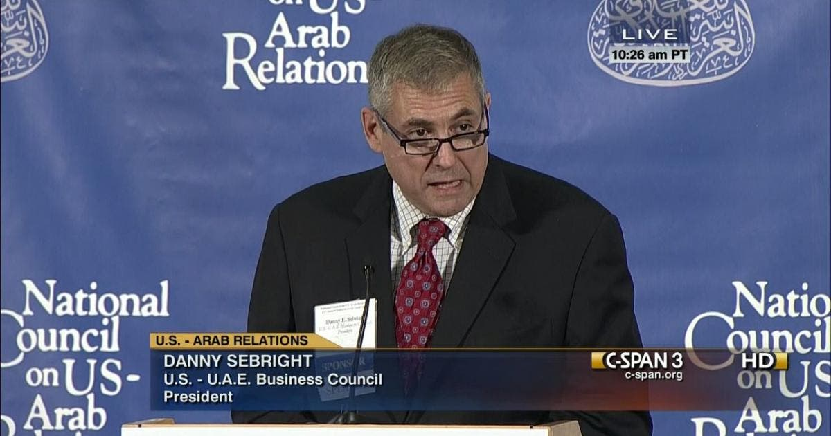 Danny Sebright, president of the non-profit U.S.-UAE Business Council
