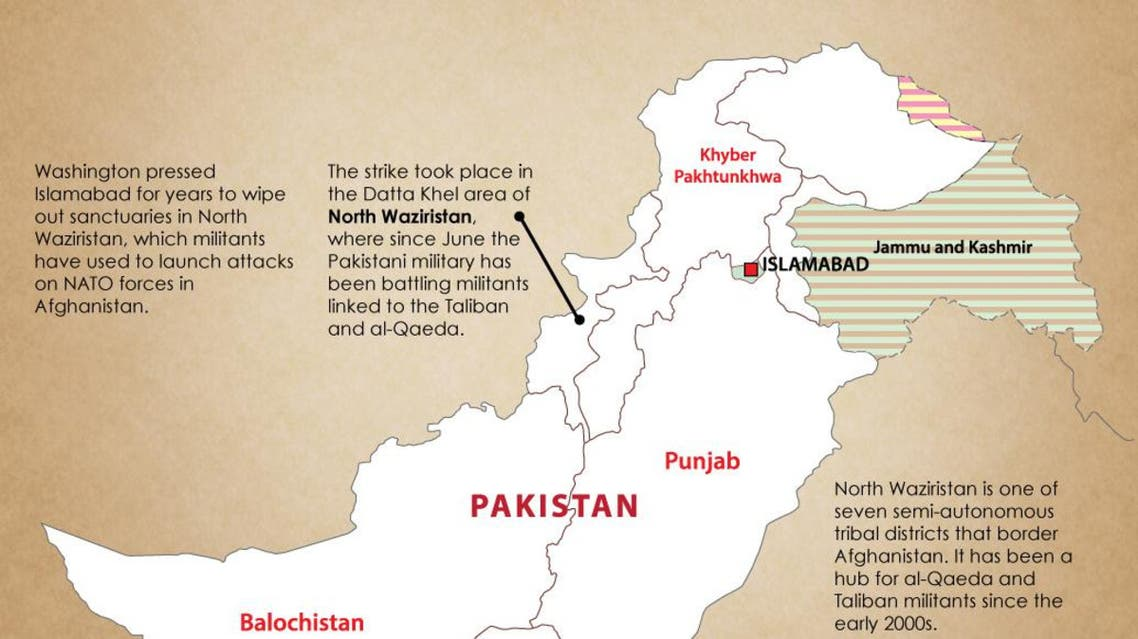 U.S. drone kills four militants in Pakistan infographic