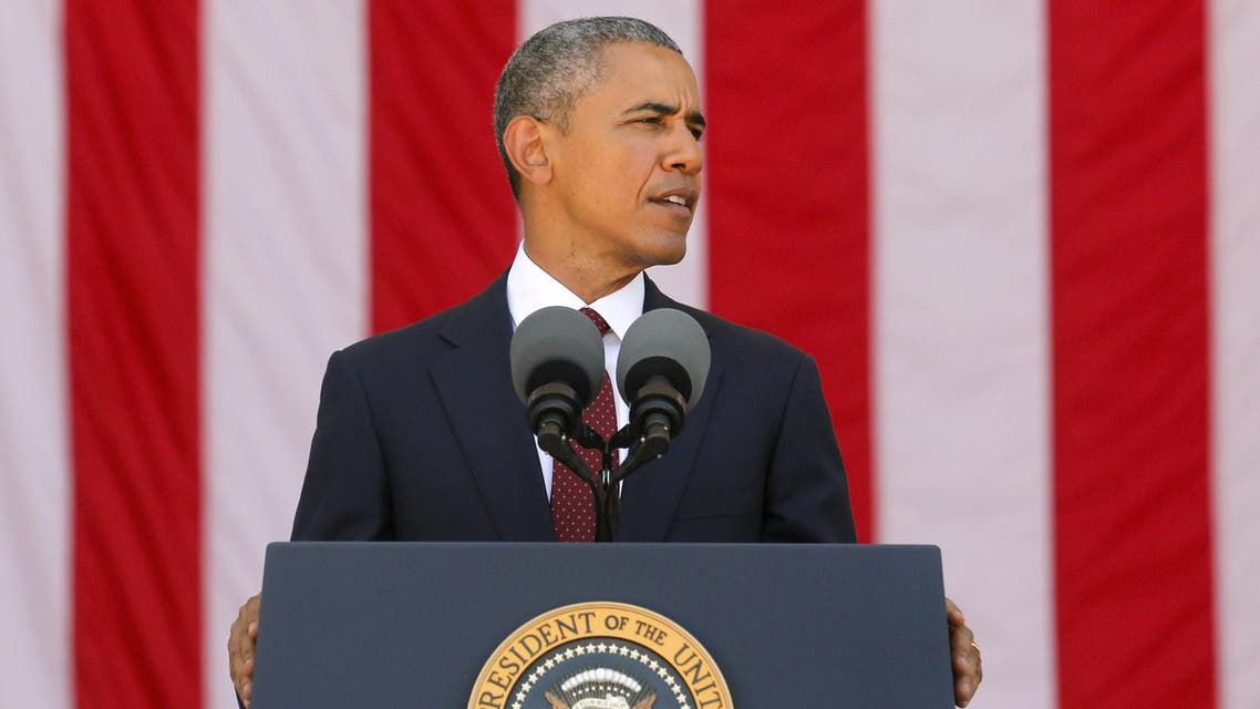 Obama delivers remarks at the Memorial Day observance at Arlington National Cemetery in Arlington, Virginia. (Reuters)