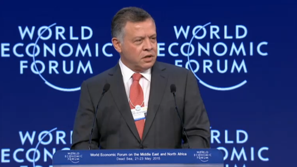 King Abdullah of Jordan on Friday opened the World Economic Forum on the Middle East and North Africa. (Photo courtesy: WEF)