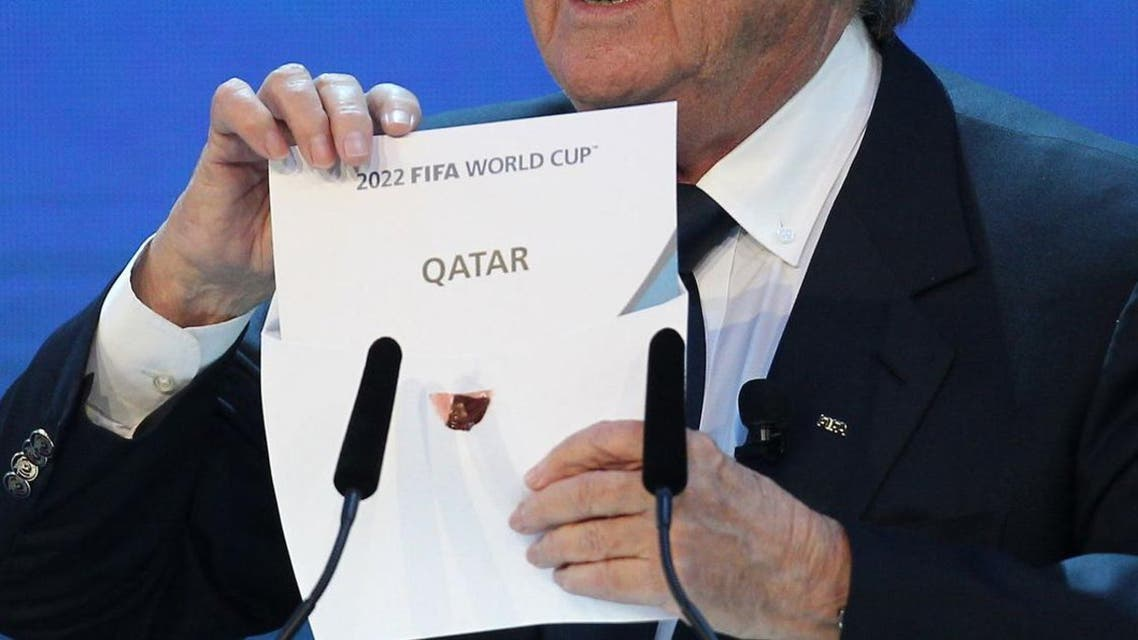 Sepp Blatter opens the envelope at Fifa headquarters to reveal that Qatar will host the 2022 World Cup.APF