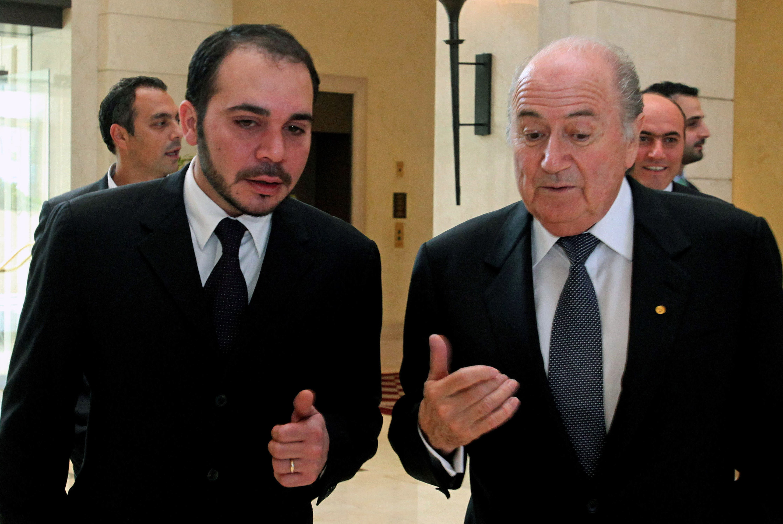 Prince Ali bin Al-Hussein + Blatter AP