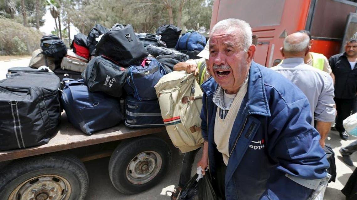 Palestinians return to the Gaza Strip
