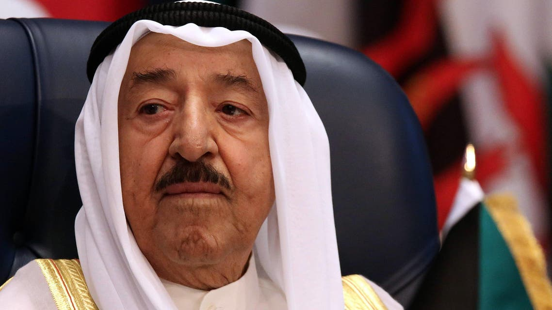 Emir of Kuwait Sheikh Sabah al-Ahmad al-Jaber al-Sabah attends the opening of the 42nd Session of the Council of Foreign Ministers (CFM) of the Organization of Islamic Corporation (OIC) at Bayan palace in Kuwait City on May 27, 2015. (AFP)
