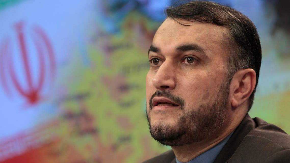 Iranian Deputy Foreign Minister Hossein Amir Abdollahian speaks during a press conference in Moscow, Russia, Friday, Aug. 3, 2012. (AP)