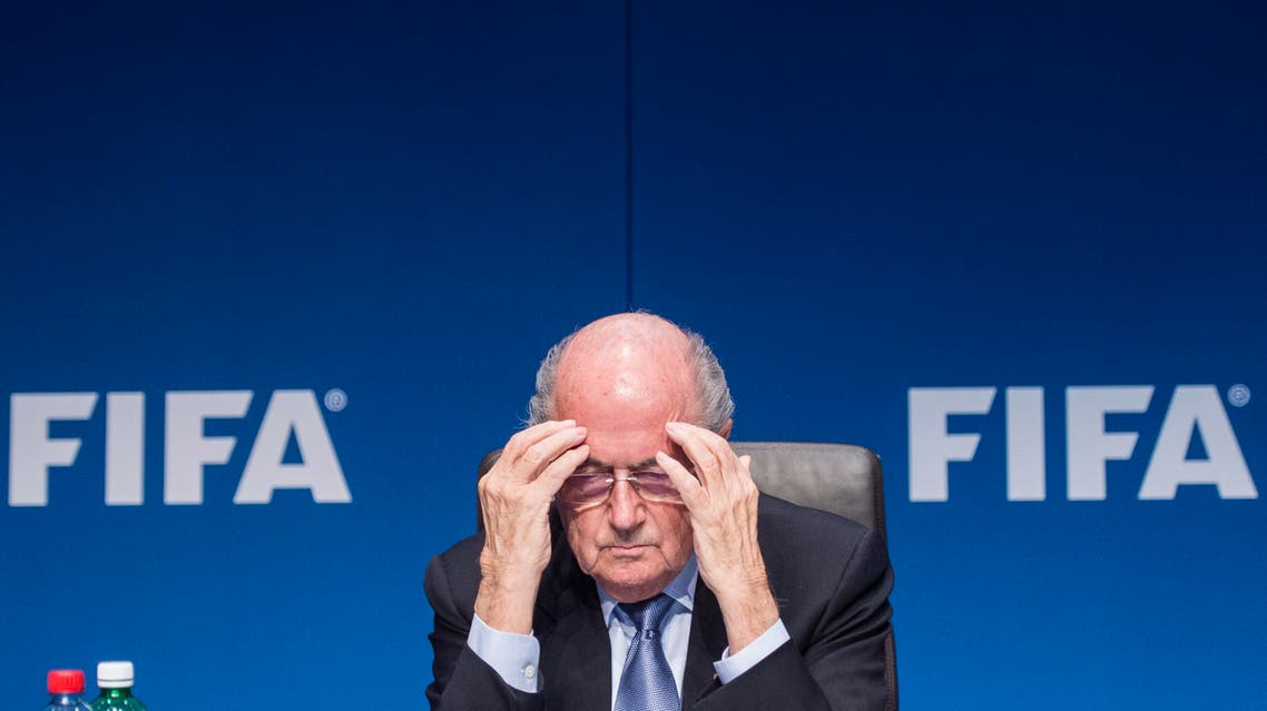 FIFA President Joseph Blatter s attends a news conference following the FIFA Executive Committee meeting in Zurich, Switzerland. AP