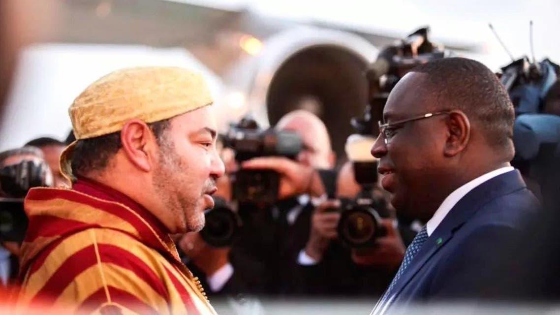 ملك المغرب ورئيس السينغال