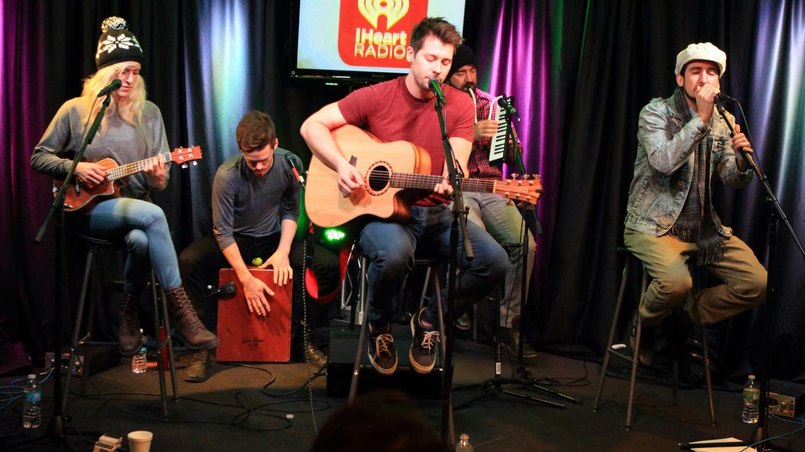Rock band Walk off the Earth visits Radio 104.5 Performance Theater on Thursday, Jan. 30, 2014, in Philadelphia. AP