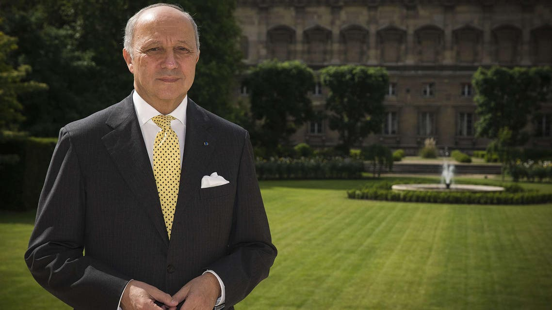 French Foreign Affairs minister Laurent Fabius poses, on May 22, 2015 at the ministry in Paris. AFP